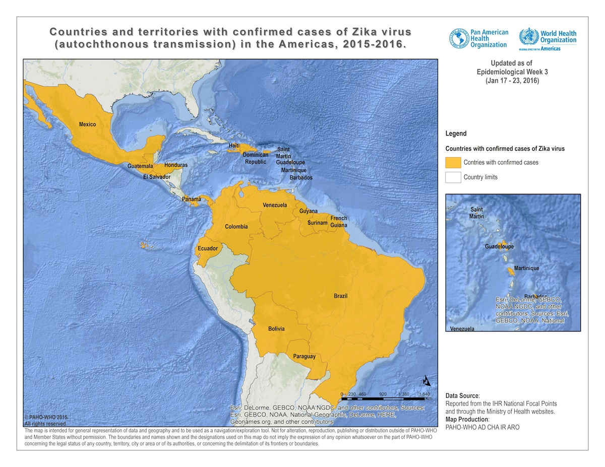 HN Zika In The Americas Filling In The Blanks - Argentina zika map